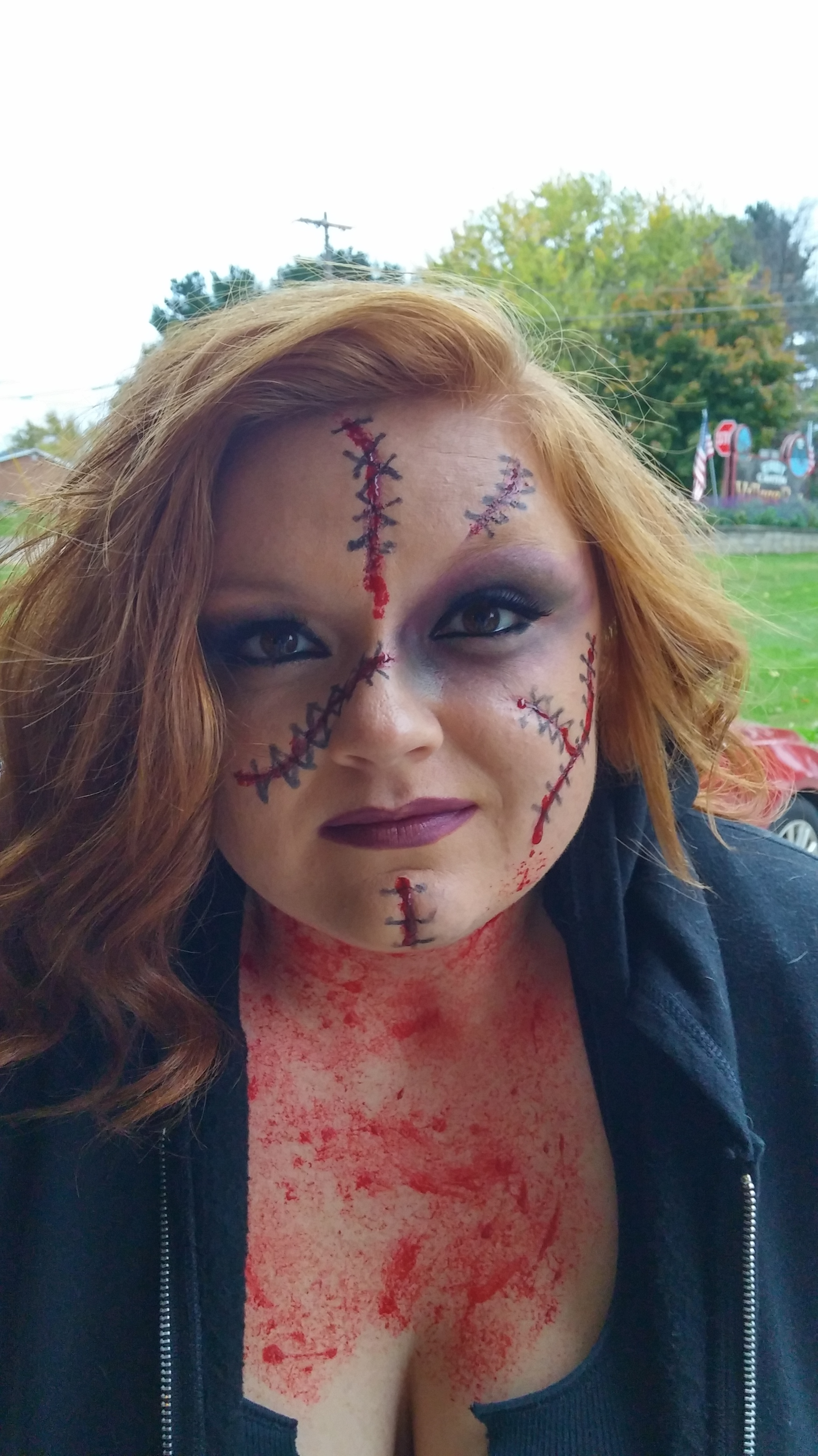 Halloween Makeup Store 1halloween zombie scars tattoos fake scab blood special fx costume makeup new flying store Halloween 5 Halloween 7